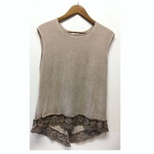 Anthropologie   'Dantelle' Bohemian Oil Washed Top